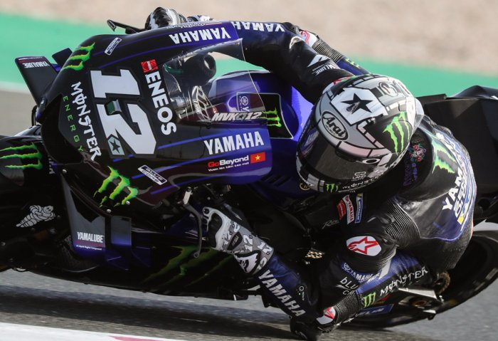 Yamaha's Maverick Vinales in action ahead of the Qatar MotoGP. Picture credit: AFP