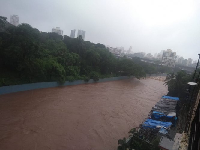 Waterlogging was reported from several places in Mumbai and suburban areas.