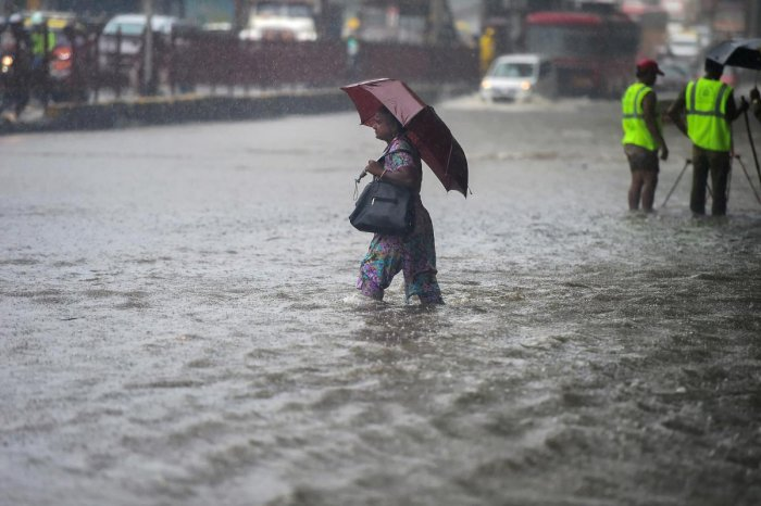 """K S Hosalikar, Deputy Director General of Meteorology, India Met Department, Mumbai, tweeted, """"With the development of low pressure area over Bay, this Saturday night and Sunday, Mumbai is very likely to get intense heavy rainfalls."""" (PTI File Photo)"""