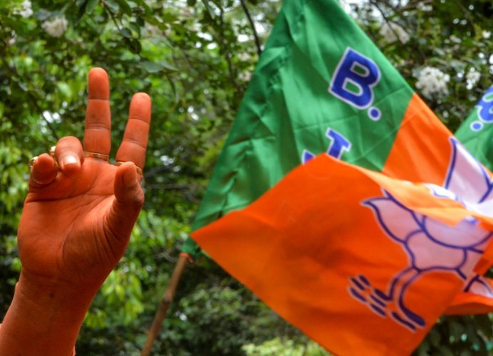 In another setback for the Indian National Lok Dal ahead of the Haryana Assembly polls, two more party MLAs besides one Independent legislator joined the ruling BJP in Haryana. (AFP Photo)