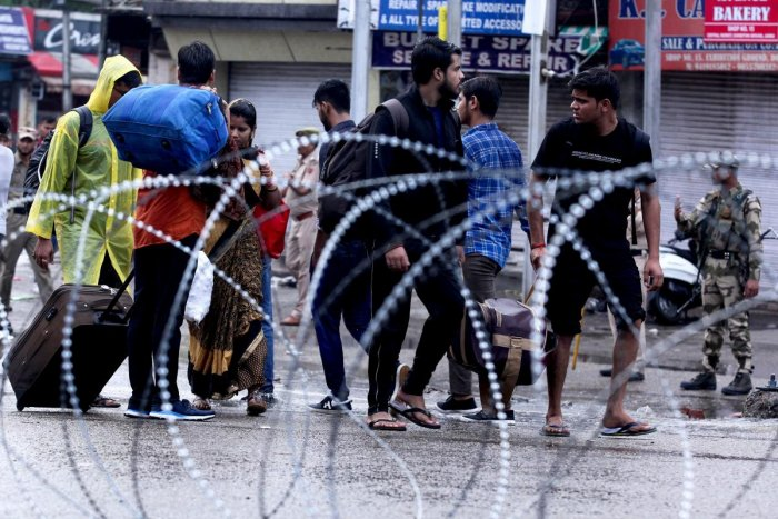 Authorities in Kashmir placed large parts of the disputed region under lockdown early. (Photo AFP)