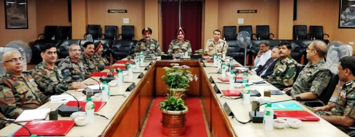 General Officer Commanding-in-Chief, Northern Command, Lt Gen Ranbir Singh chaired the meeting that was attended by senior Army, police and paramilitary officers and intelligence officers, it said.