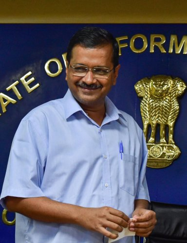 Delhi Chief Minister and Aam Aadmi Party convenor Arvind Kejriwal. (PTI Photo)