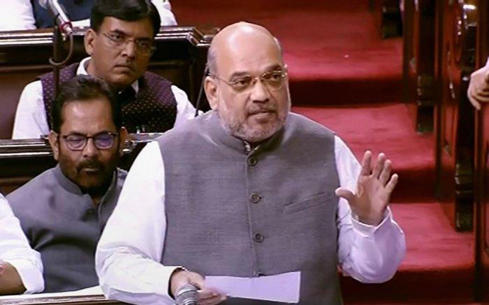 Amit Shah in Lok Sabha. (PTI Photo)