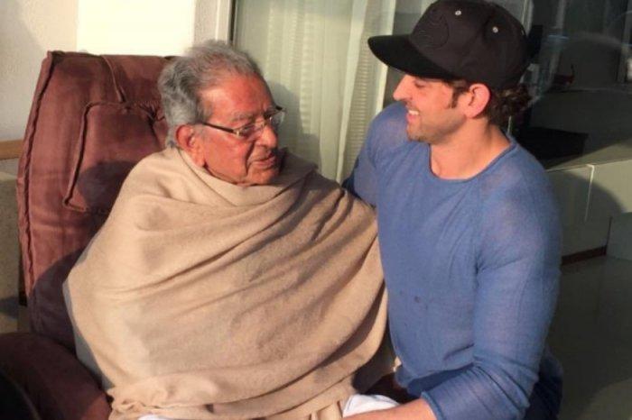 Veteran director and actor Hrithik Roshan's grandfather, J Om Prakash (Image courtesy Twitter)