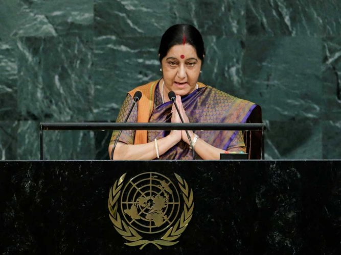 Sushma Swaraj managed to tower head and shoulders over most of her male peers in the BJP