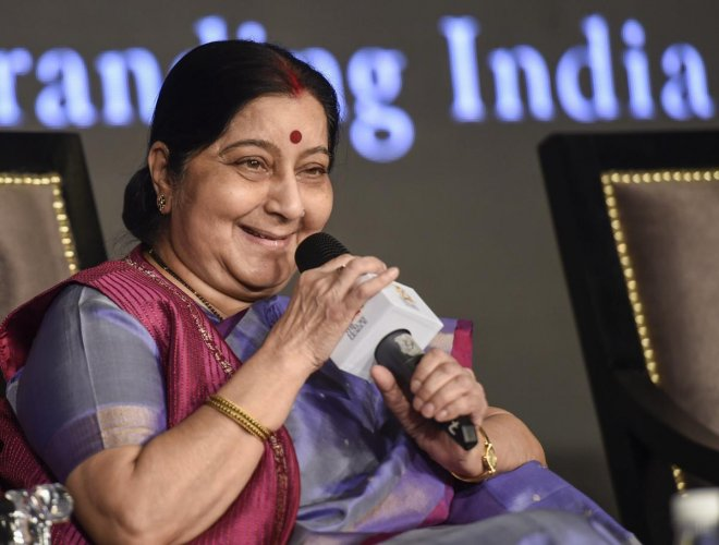 Known to be an active Twitterati and an excellent orator who could enthral a large crowd, Sushma Swarajalways reached outto those who asked for her help, during her tenure as the External Affairs Minister. (PTI File Photo)