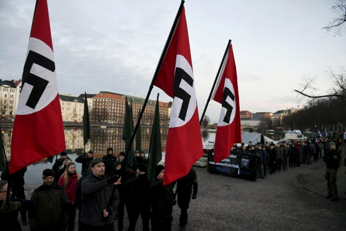 A Polish court on Wednesday banned a neo-Nazi group for celebrating Adolf Hitler's birthday in 2017, an event that was secretly filmed and then broadcast by a local news channel. Reuters Photo