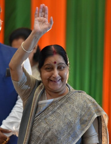 Sushma Swaraj. File photo