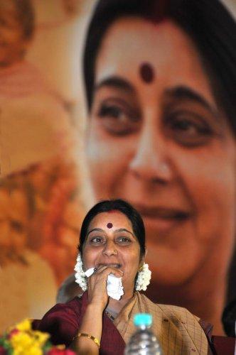 Sushma Swaraj. DH Photo