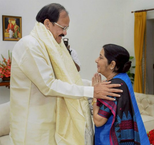 It was not because she fell out with Naidu but he became the Vice President of the country and it was not proper for him to visit her.(PTI Photo)
