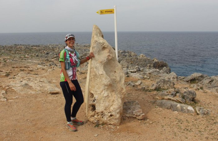 Natalie Christopher, a 35-year-old British scientist who went missing on the Aegean island of Ikaria. (AFP Photo)