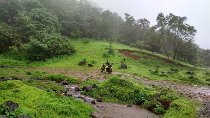 Two-wheeler riders are at increased risk while traversing hilly terrains during the monsoons.