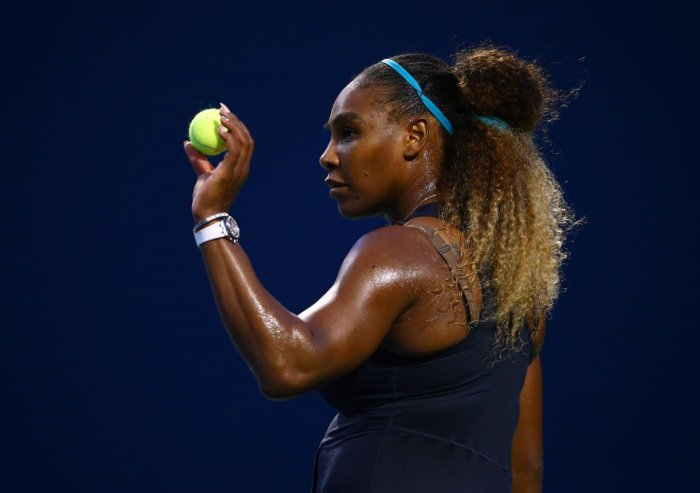 Serena Williams looked solid in her first match since losing the Wimbledon final. (AFP Photo)