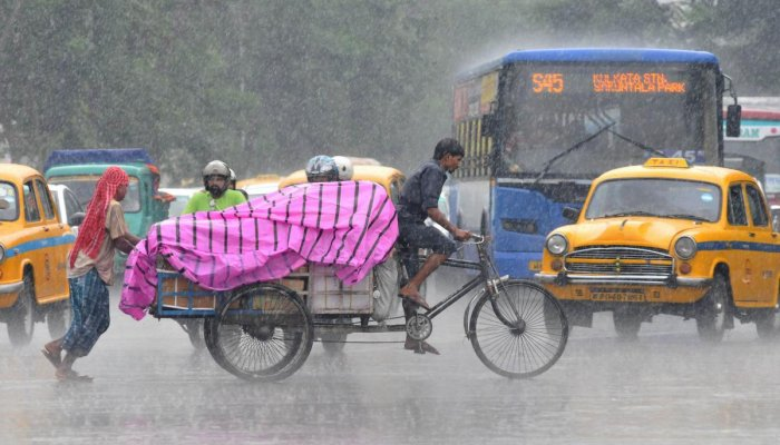 The eastern metropolis received 50 mm rainfall in the last 24 hours till 8.30 am on Thursday owing to a low-pressure area over the north Bay of Bengal, the Met department said.