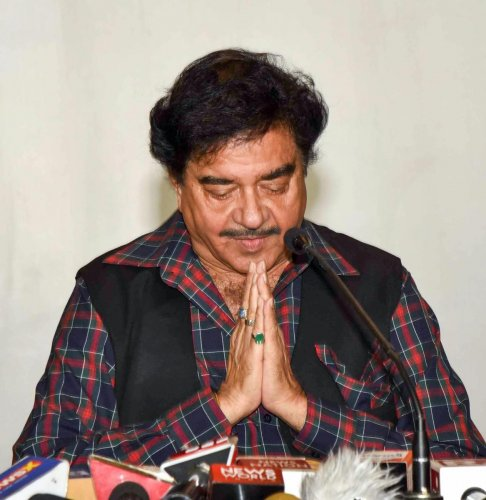 Congress candidate from Patna Sahib Shatrughan Sinha addresses a press conference after losing to BJP's Ravi Shankar Prasad in the Lok Sabha elections, in Patna, Thursday, May 23, 2019. (PTI Photo)