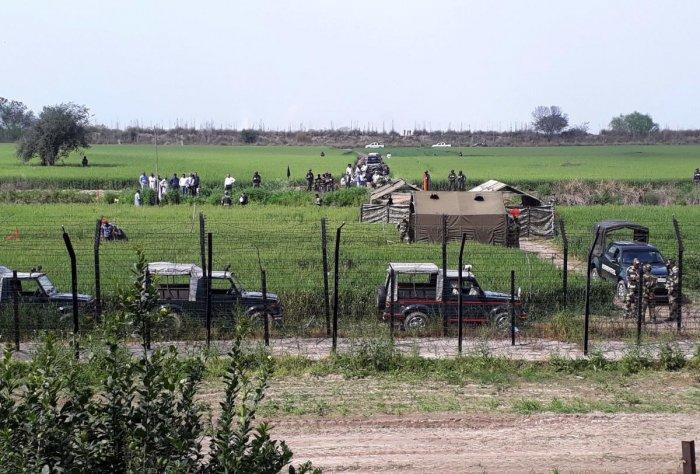 Indian and Pakistani technical experts hold a meeting to finalise the construction of the Kartarpur corridor connecting the Sikh shrines of Dera Baba Nanak Sahib and Gurdwara Darbar Sahib Kartarpur. (AFP File Photo)