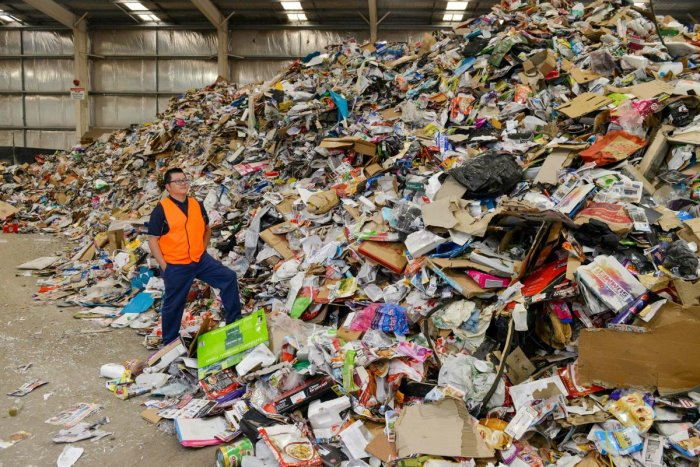 Australia pledged Friday to stop exporting recyclable waste amid global concerns about plastic polluting the oceans and increasing pushback from Asian nations against accepting trash. (AFP File Photo)