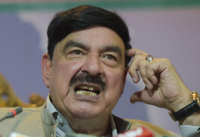 Pakistani Railways Minister Sheikh Rasheed Ahmad. AFP Photo