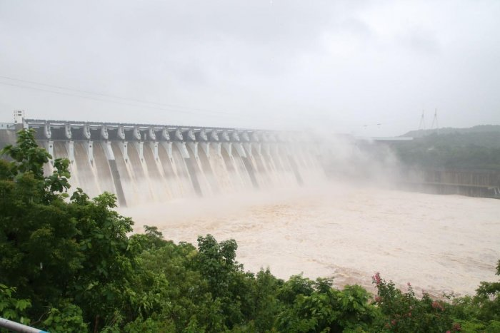A view of the Sardar Sarovar Narmada dam. AFP Photo