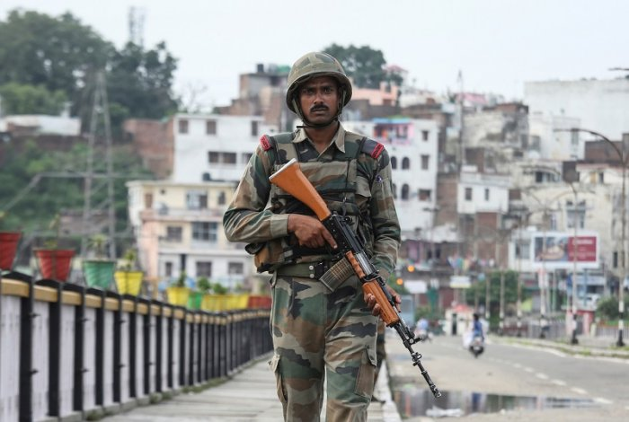 Army commander Lt Gen R P Singh on Saturday visited the forward areas along the International Border (IB) in Jammu and Pathankot to review operational preparedness, officials said. (Reuters Photo)