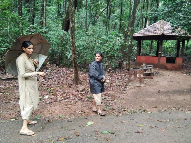 Shaila Patagara and Vinoda Marati at Yana, Uttara Kannada.Photos by author