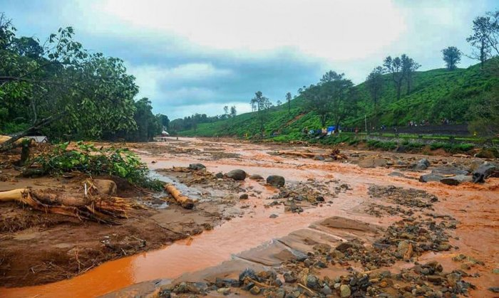 """Chief Minister B S Yediyurappa said this was the """"biggest calamity"""" in 45 years adding his government has sought Rs 3000 crore as relief from the Centre. (PTI Photo)"""