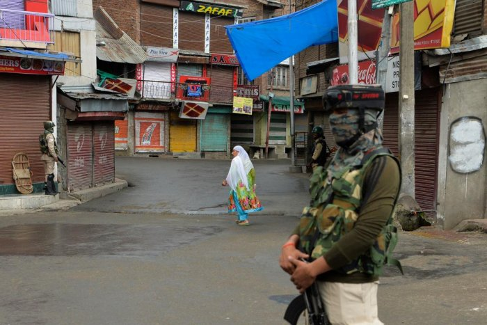 Heightened restrictions were imposed in Kashmir Valley in view of the Centre abrogating special status of Jammu and Kashmir and dividing the state into two Union Territories. (AFP Photo)