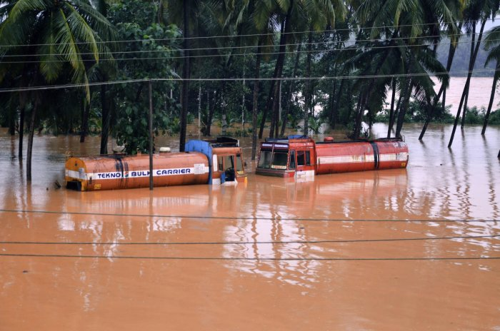 The district administration and officials are stationed near the dangerous spots and are prepared to tackle any dangers that may be caused by rains and floods. (PTI Photo)