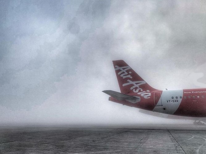 A Sunday night AirAsia flight from the city to Kochi had a ticket price of Rs 10,485, way beyond the regular fare of about Rs 2,400. (DH file photo)