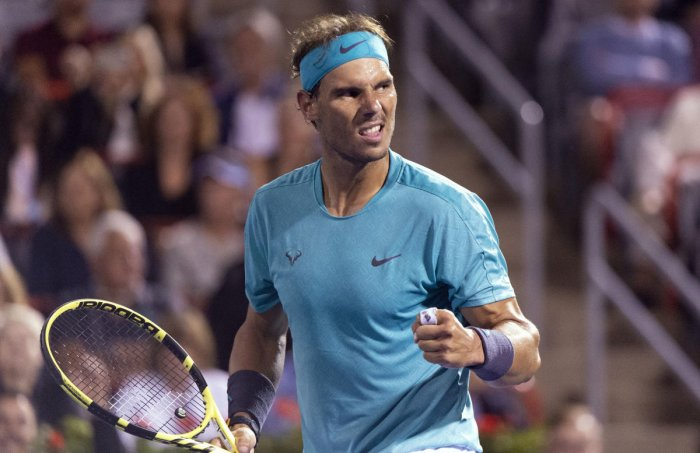 Nadal will aim for his fifth Canadian trophy on Sunday when he faces Daniil Medvedev. (AP/PTI Photo)