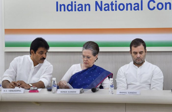 Sonia Gandhi was on Saturday appointed as interim president of the Congress at a crucial meeting of the party's working committee in New Delhi after Rahul Gandhi refused pleas by partymen to take back his resignation. (PTI Photo)