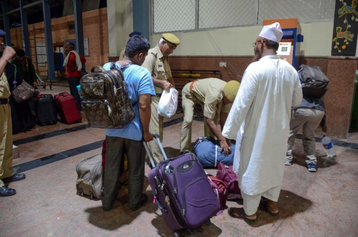 Among the Pakistani nationals, who dared to take the train to India amid lingering uncertainty over the fate of its return, included Saifuddin, who came from Karachi. (AFP Photo)