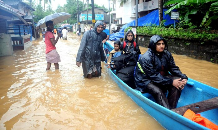 Hundreds of families of Kuttanad areas of Alappuzha and Kumarakom in Kottayam were shifted to relief camps. (PTI file photo)
