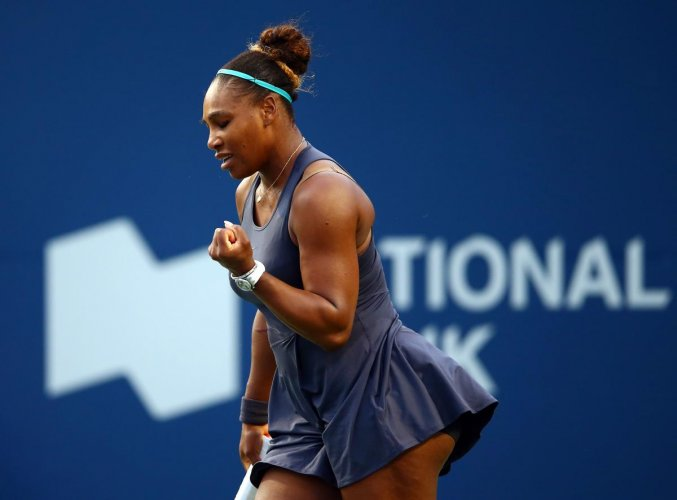 Williams, seeded eighth in a tournament she has won three times, will take on home hope Bianca Andreescu in the championship match on Sunday. (AFP Photo)