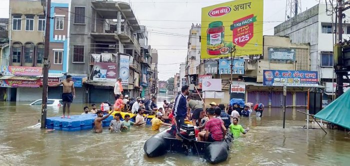 More than five lakh people have been displaced in the worst-ever floods that Maharashtra has seen in recent times. (PTI File Photo)
