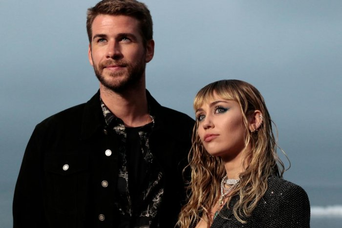 Miley Cyrus and husband Australian actor Liam Hemsworth. (AFP Photo)