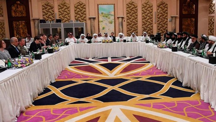 Round of talks between the US and the Taliban began in Doha (AP)