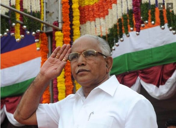 For the first time in many years, the national flag will be hoisted in Karnataka this Independence Day by bureaucrats and not ministers as Chief Minister BS Yediyurappa is yet to expand his Cabinet. Photo via: yeddyurappa.in