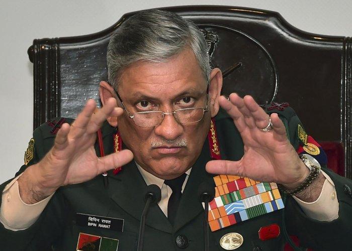 Army Chief Bipin Rawat. (PTI File Photo)