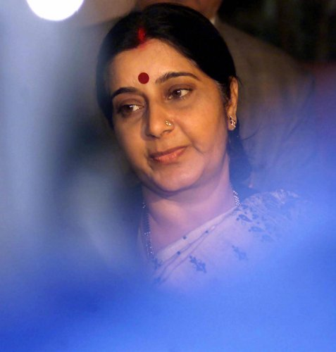 Swaraj (67) passed away on August 6 at AIIMS following a cardiac arrest. (PTI Photo)