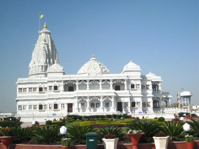 Prem Mandir Vrindavan, Mathura. (Wikipedia Photo)