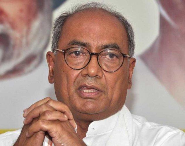 Senior Congress leader Digvijay Singh. DH file photo