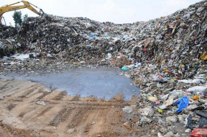 Garbage dumped at the Mavallipura landfill. DH FILE