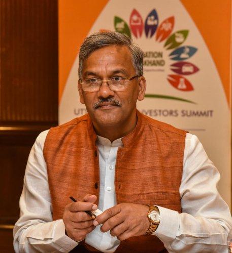 Trivendra Singh Rawat, Chief Minister Uttarakhand. DH Photo