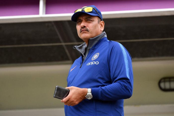 India's head coach Ravi Shastri is a runaway favourite to retain his post. (AFP Photo)