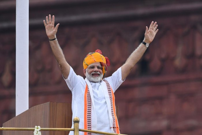 During his address to the nation on the 73rd Independence Day, he said, today India is talking about simultaneous polls which is a good thing. (AFP Photo)