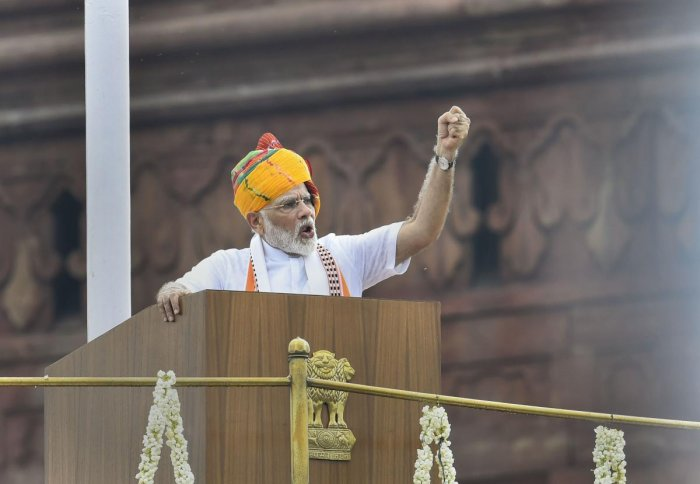 The words of the prime minister struck a chord with many children and their teachers who participated in the event. (PTI photo)