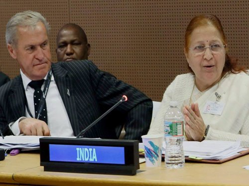 Poor can't be burdened with fight against climate change: Sumitra Mahajan