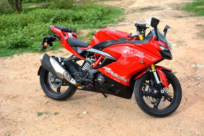 The TVS Apache RR 310. Picture credit: Vivek Phadnis/ DH Photo